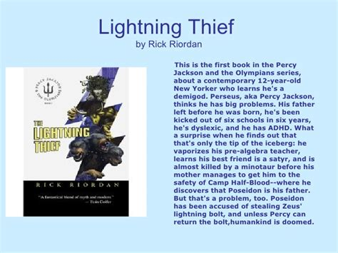 percy jackson and the lightning thief book report book review 1