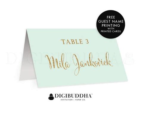 mint wedding place cards mint gold tented place cards wedding cards folded or