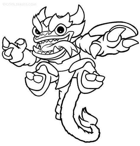 printable skylander giants coloring pages for kids
