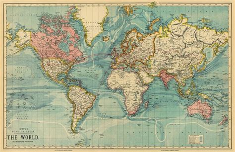 Vintage World Maps by Map Of The World Vintage Map Of The World The World On