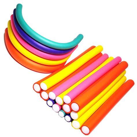 Bendy Hair Roller Sponge Isi 6 30 pcs set hair curler flexi rods soft foam bendy hair roller plastic hair curling magic diy