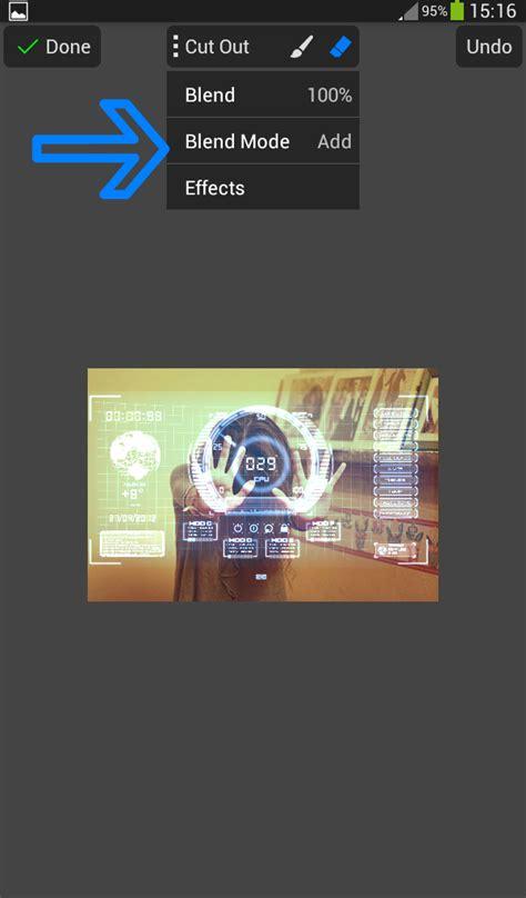 tutorial edit photo picsay pro cara edit foto ala hologram ironman di picsay pro android