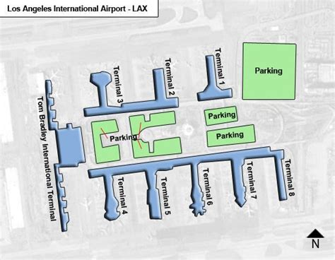 los angeles lax airport terminal map