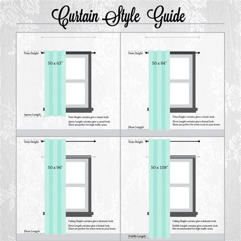 curtain measuring chart 17 best ideas about curtain length on pinterest hanging