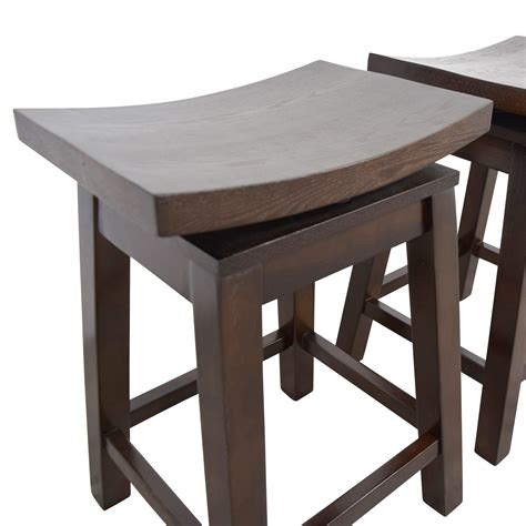 Asian Style Counter Stools by 76 Asian Style Wood Saddle Counter Height Swivel