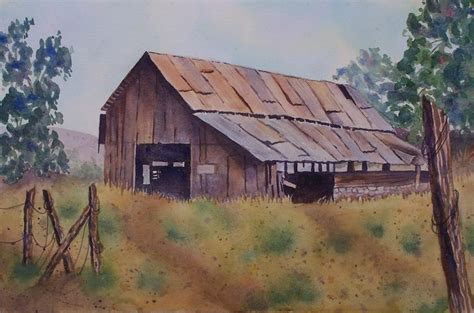 bob ross painting a barn painters of barns grapes quot watercolor 8 quot x 10