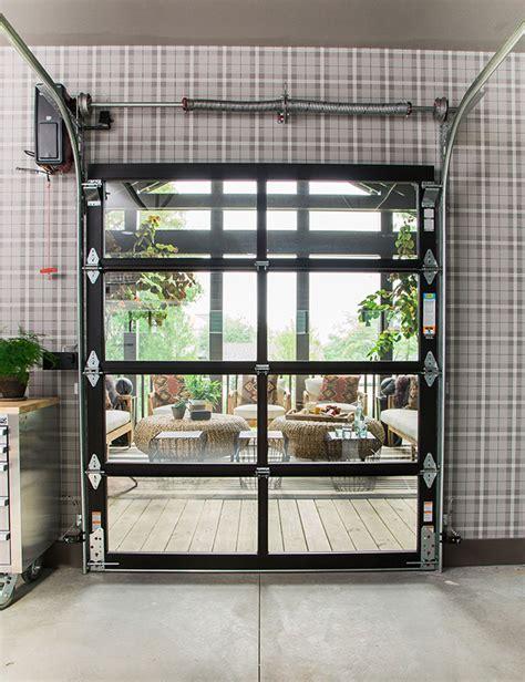 As Seen On Tv Clopay 174 Doors Featured On Hgtv Urban Oasis Glass Overhead Doors