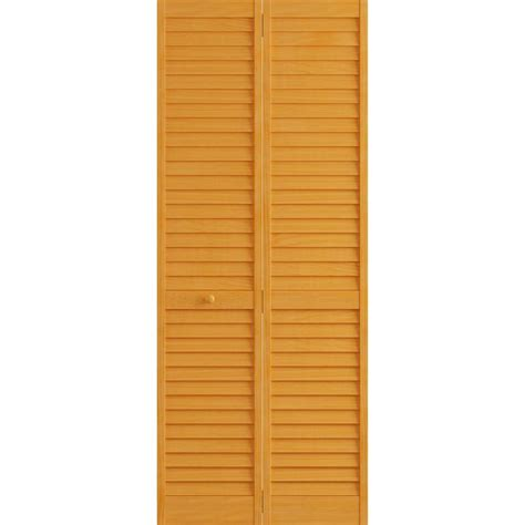 Louvered Doors Home Depot Interior Frameport 30 In X 80 In Louver Pine Golden Oak Plantation Interior Closet Bi Fold Door 3115364