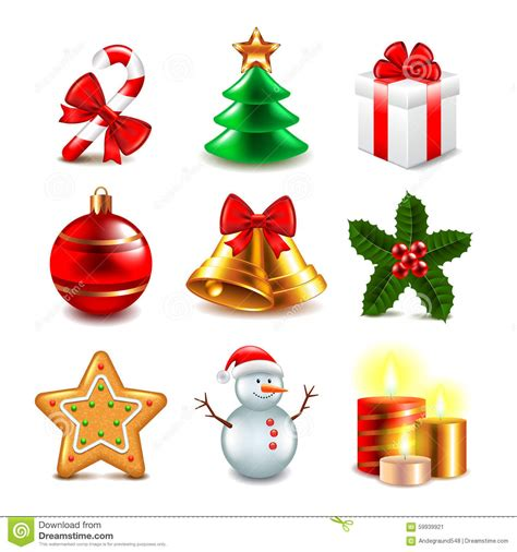 images of christmas objects christmas objects vector set stock vector image 59939921