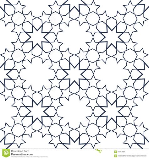 ornamental seamless pattern vector abstract background ornamental seamless pattern in islamic style vector