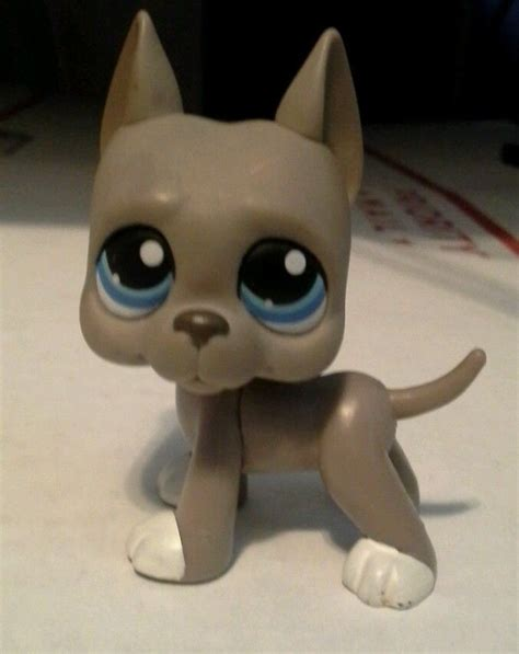 lps boy dogs littlest pet shop lps grey great dane blue 184 littlest pet shops