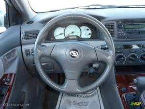 Steering Wheel For Toyota Corolla 2004 Toyota Corolla Le Light Gray Steering Wheel Photo