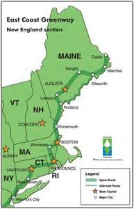 map usa east coast boston three new trips on the east coast greenway