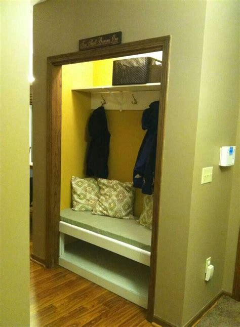 Mud Room Closets by Closet Turned Into Mud Room Bench Area Home Decor