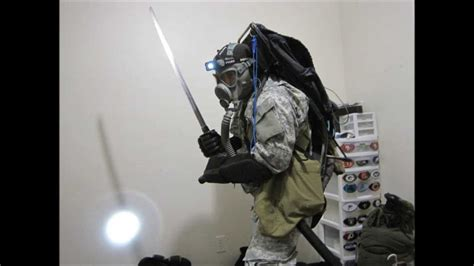 real tactical gear zombe with some of his apocalypse tactical gear