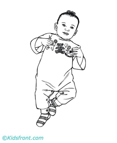coloring page of baby boy baby boy colouring pages