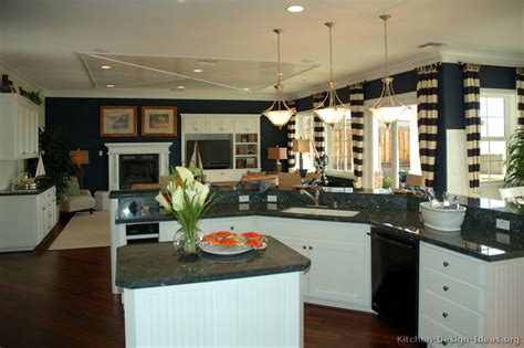 Blue Kitchen Walls White Cabinets White Kitchen Cabinets Blue Walls Quicua