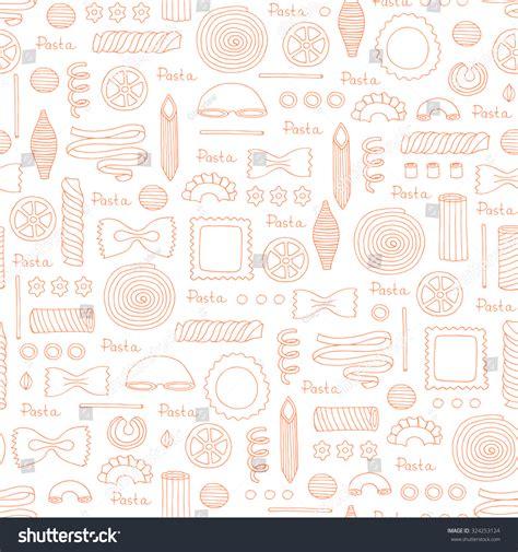 vector italian pasta pattern stock illustration vector pattern hand drawn italian pasta stock vector