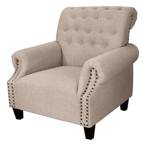 tufted upholstered accent chair sears