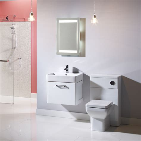 Tavistock Q60 White Wall Mounted Vanity Unit 575mm Tavistock Bathroom Furniture