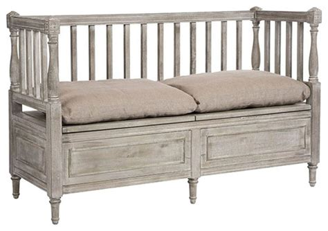 farmhouse storage bench aidan gray smokey lake udo short bench ch164 farmhouse