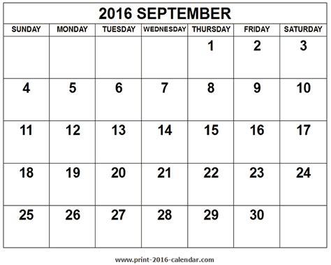 printable calendar october 2015 to september 2016 2016 september calendar