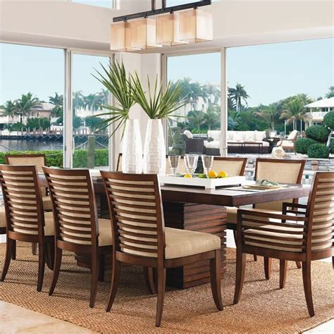 tommy bahama dining room furniture tommy bahama home ocean club peninsula dining table 536 876c