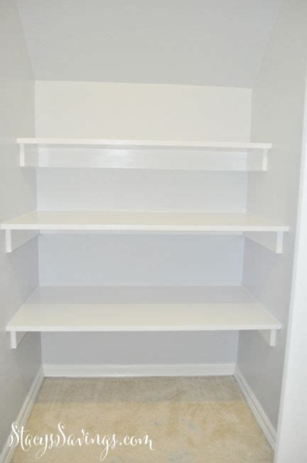 how to build built in shelving in closet the stairs