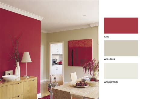 open up your dining area by this clever mix of dulux