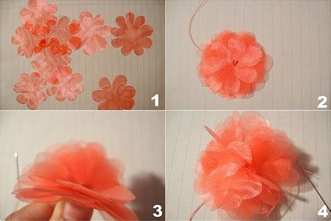 tutorial bunga organza 25 best organza flowers images on pinterest fabric
