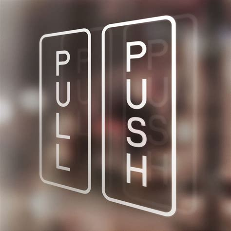 Push And Pull Signs For Glass Doors X1 Pair Pull Push Door Stickers Shop Salon Cafe Restaurant Office Hotel Ebay