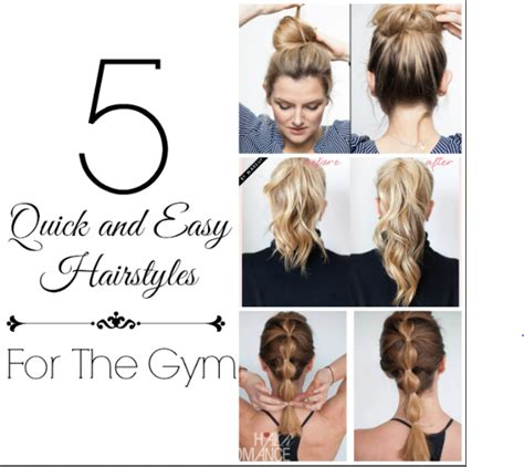 quick and easy hairstyles for gym 5 quick and easy hairstyles for the gym six sisters stuff