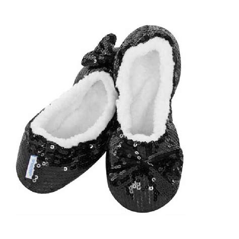 slippers snoozies snoozies ballerina bling fleece lined slippers ebay