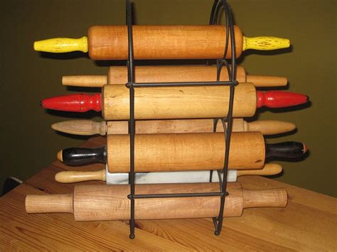 Rolling Pin Rack Display by Wine Rack To Display Rolling Pins Reworked Items