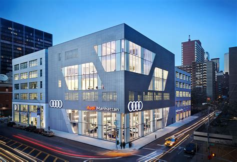 audi dealership exterior audi manhattan architect magazine cr studio york