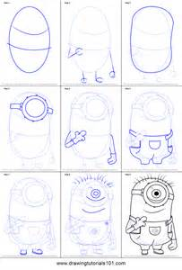 How To Draw A Step By Step How To Draw Stuart From Minions Printable Step By Step
