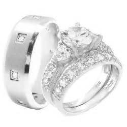 cheap trio wedding ring sets cheap wedding sets kingswayjewelry