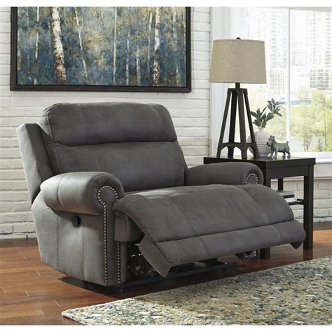 Zero Wall Recliner Austere Faux Leather Zero Wall Recliner In Gray 3840152