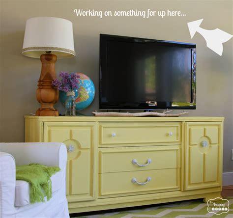 dresser in living room lightening up the living room with a diy chalk paint dresser turned media console the happy housie