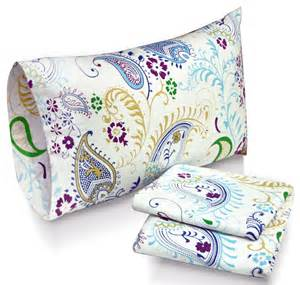 paisley garden printed pocket flannel sheet set at