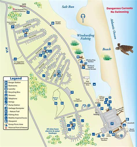 florida cground map coastal treasure cing in state park