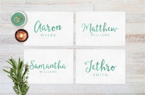 wedding card name wedding place cards wedding reception decor place cards