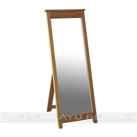 Cermin Jati Minimalis cermin pigura kaca kayu jati minimalis crown mebel kayu bening