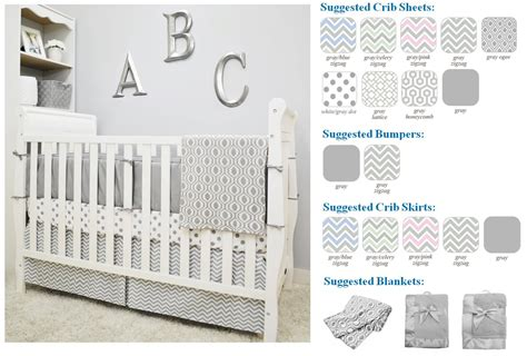 Baby Company Crib by American Baby Company Cotton Percale Crib Bumper Gray