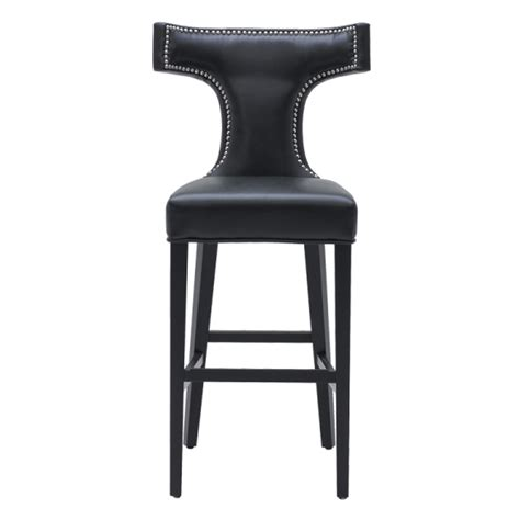 Bar Stool Black by Serafina Barstool Black Buy Faux Leather Bar Stools