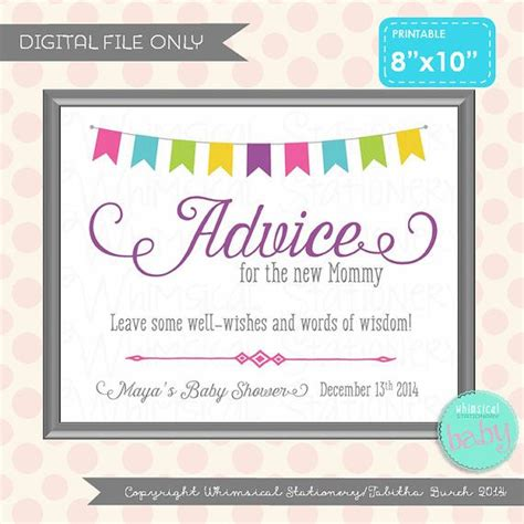 17 best ideas about baby shower advice on pinterest baby shower sign advice table sign bunting sweetness