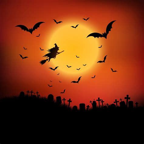 la sorciere dans les paysage halloween avec la sorci 232 re voler dans les airs t 233 l 233 charger des vecteurs gratuitement