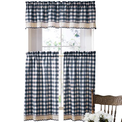 black and white cafe curtains primitive buffalo checkered cafe curtain set by