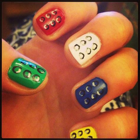lego nails tutorial lego nails nail art pinterest