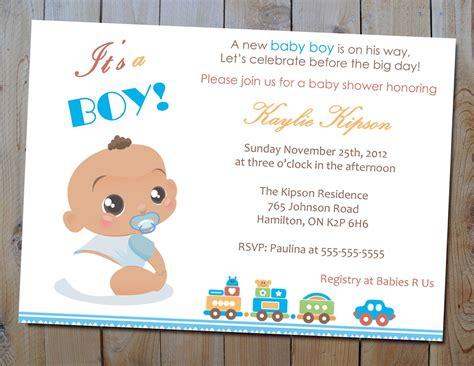 Baby Boy Shower by Baby Boy Shower Invitation Baby Shower Invitation Card